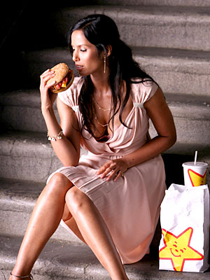 fast food xxxx padma carls jr Padma Lakshmi makes sweet and savory love (pics) to ...