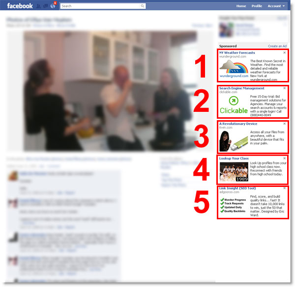 facebook 5 ads per page Not 1, Not 2, Not 3, But 4 Display Ads Per Pageview   Shame on You Facebook