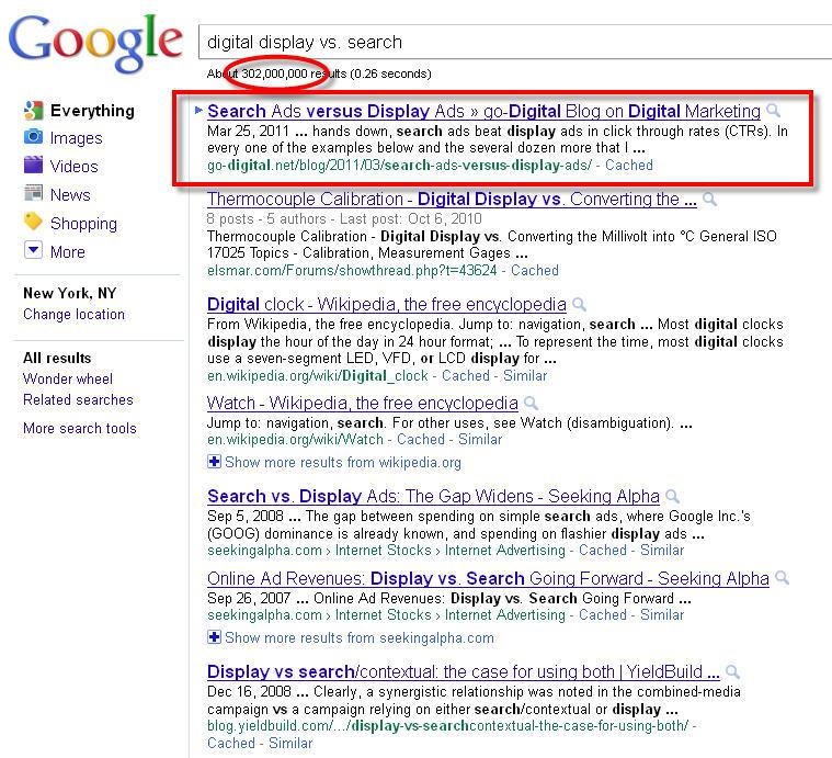 search ads vs display ads