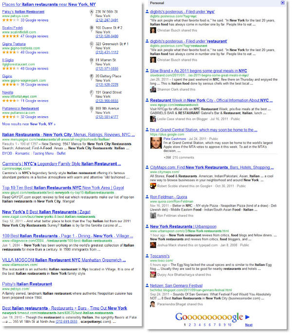 google normal search vs personalized search Um, Googles Search, Plus Your World Sucks So Far