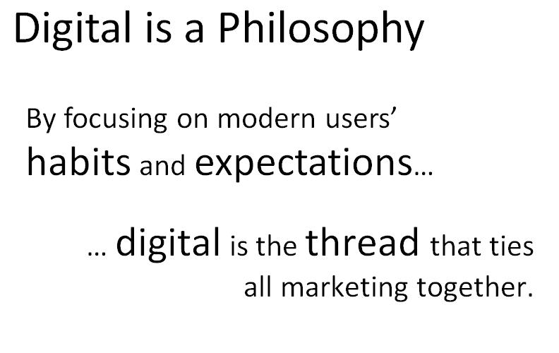 digital is a philosophy Digital Strategy Slides