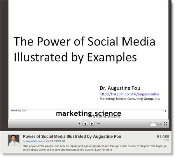 power of social media The Power of Social Media Illustrated Has Over 50,000 Views in 4 Days on Slideshare